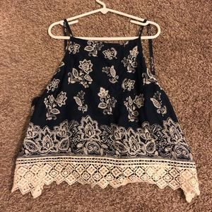 Abercrombie & Fitch Crop Tank Lace